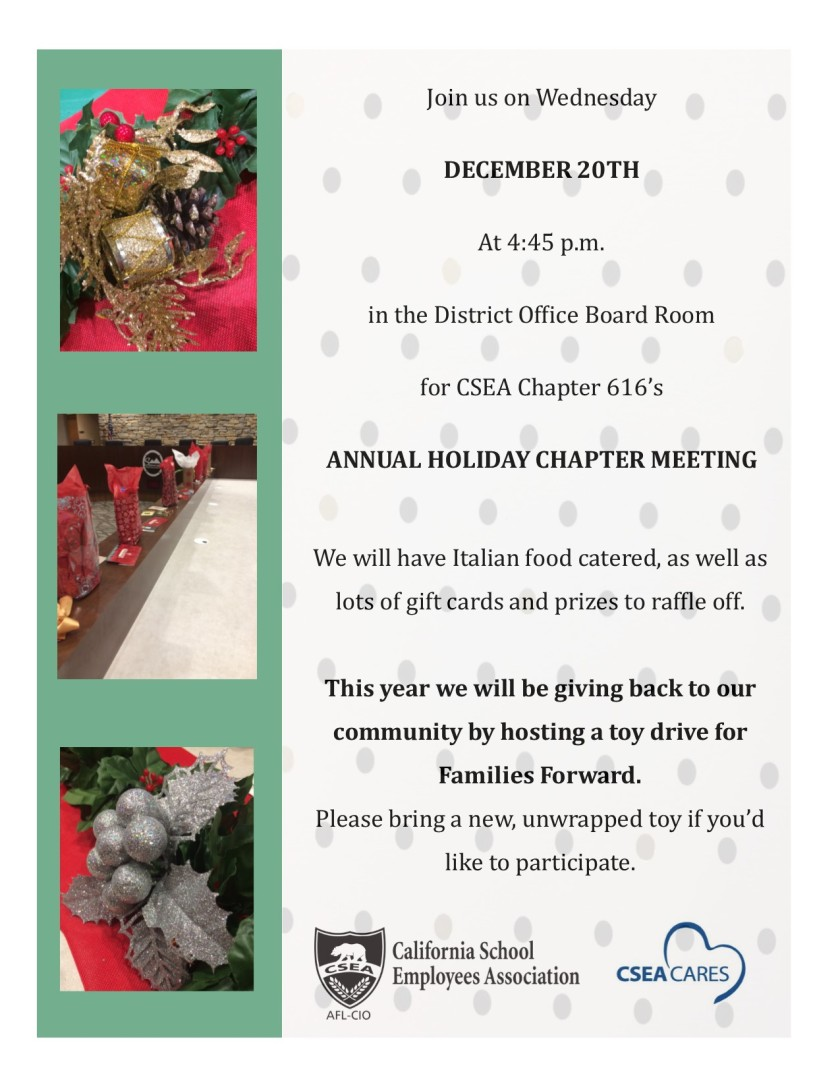 2017 Holiday Chapter Meeting