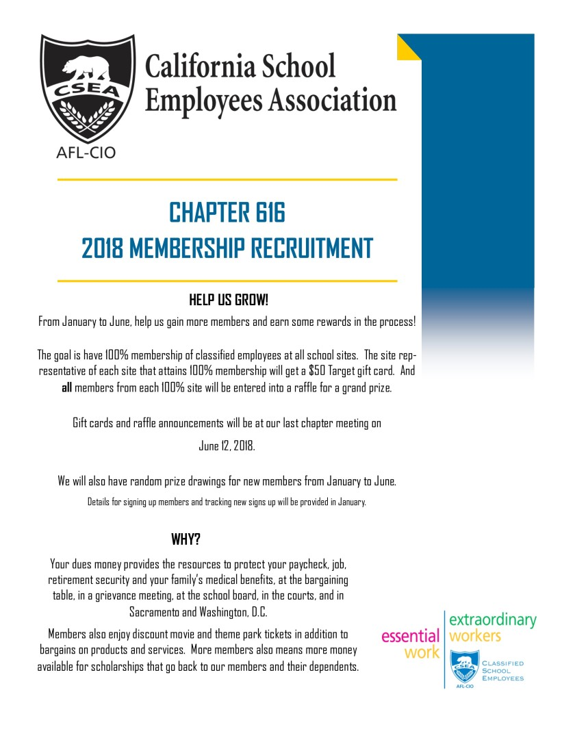 2018 Membership Recruitment Flyer