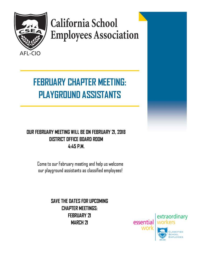 2018 February Meeting Flyer